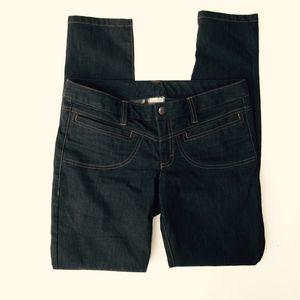 ATHLETA Skinny Dry Dipper Jeans size 8 Dark Blue